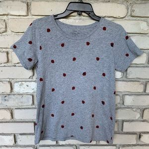 J crew shirt with lady bugs design